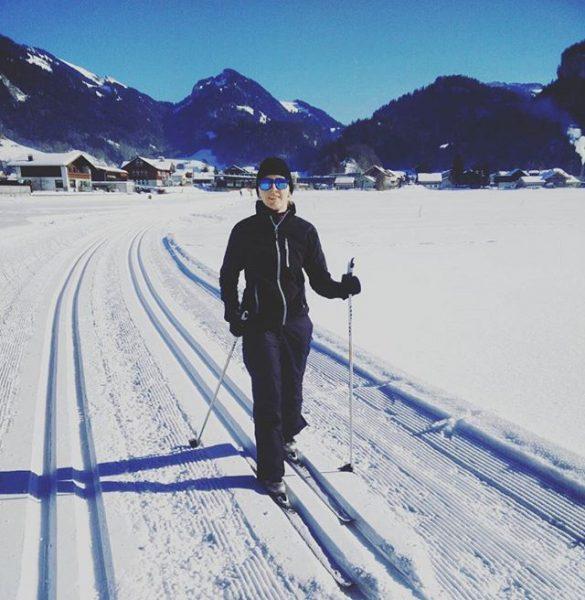Sonntagssport. #langlauf #classic #wintertagtraum #muskelkater #wintersportolé #bregenzerwald Bezau