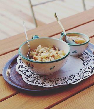 Kennt ihr Riebel? Das Rezept für dieses Vorarlberger Frühstücksgericht findet ihr jetzt auf dem Blog 😄 #Riebel...