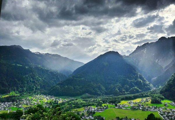 Austrian Alps #totallysober #friends #oldschool #hdr #rain #greatday #tgm Sankt Anton im Montafon