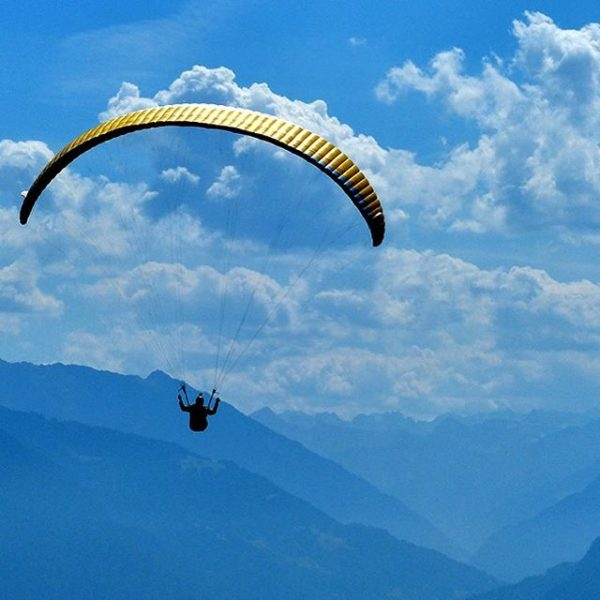 #paragliding over the #mountains #alps #walgau #vorarlberg #austria Dünserberg