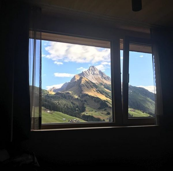 The view from my bed this morning. Time to go outside and ride! ...