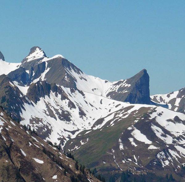 Wild mountains: Wildes Gräshorn, Grünes Gräshorn and Annalper Stecken.⛰⛰⛰ May 26th, 2017. #bregenzerwald ...