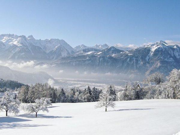 Unterwegs am Thüringerberg ☀️❄️☃️ #grosseswalsertal #thüringerberg #vorarlberg #visitvorarlberg #outdoor #winterwandern #nature #sunnyday #biosphärenpark ...