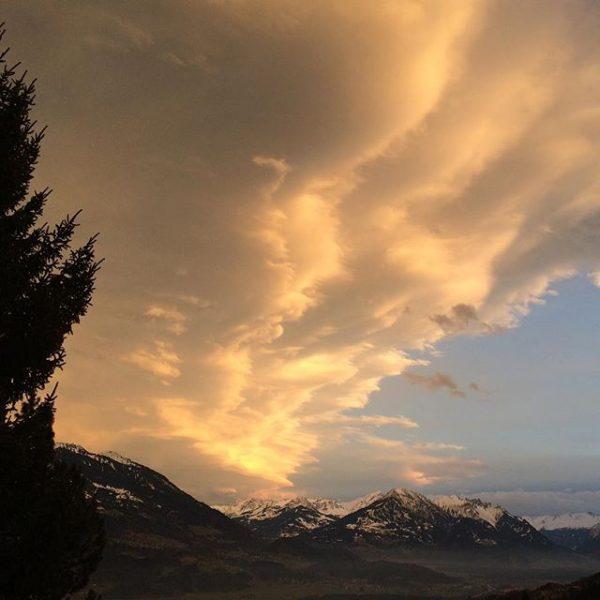 #sunset #walgau #vorarlberg #home #mountains Amerlügen, Vorarlberg, Austria