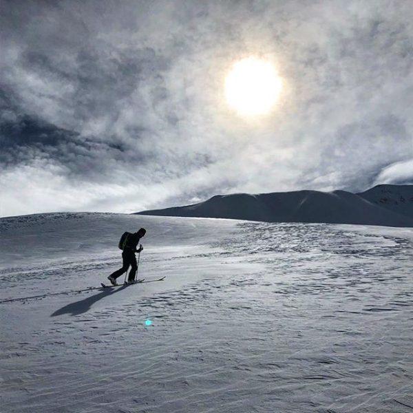 #skitouring #backcountry #firsttracks #earnyourturns #powpow #cloudy #telemark #allgäu #kleinwalsertal #hochalppass Baad, Vorarlberg, Austria