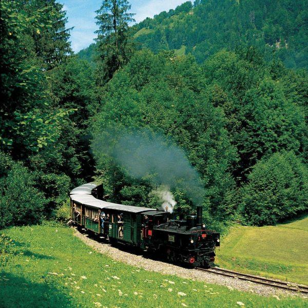 Wälderbähnle - von Bezau nach Schoppernau #bodenseevorarlberg #hotelweisseskreuz #visitvorarlberg #visitfeldkirch #hotels #hotel #wälderbähnle ...
