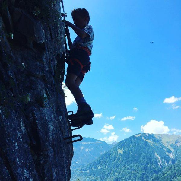 Ich liebe #klettersteige, die Kinder auch. Sankt Anton im Montafon