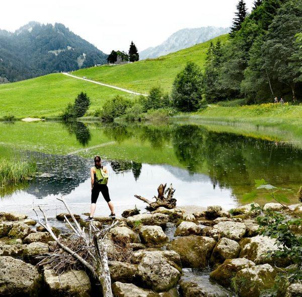 Hier am Lecknersee in Hittisau findet ihr diese tollen Spiegelungen im See. Schon ...