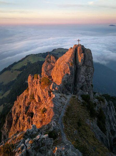 Beautiful sunset in the mountains. . . . . . #austria #vorarlberg #amazing ...