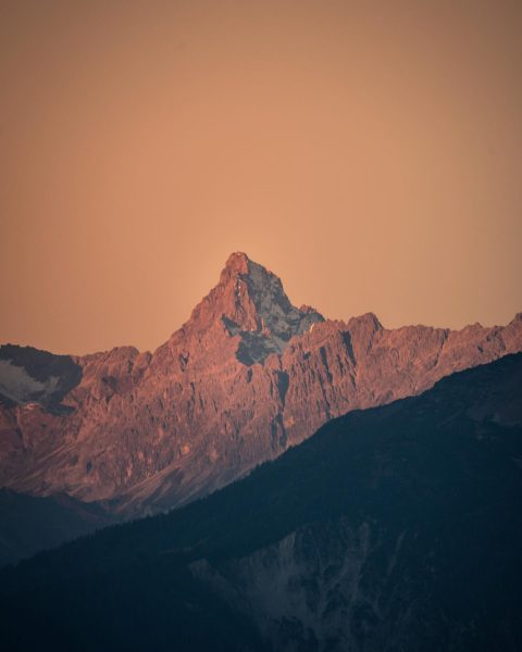 Beautiful morning the the Austrian Alps ... This is the mountain in Vorarlberg its called Zimba 2643m...
