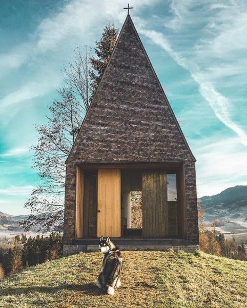 Chapel Salgenreute 📸 by @vannomaden #visitbregenzerwald #bregenzerwald #vorarlberg #lourdeskapelle #austria #krumbach #salgenreute #architecturelovers ...