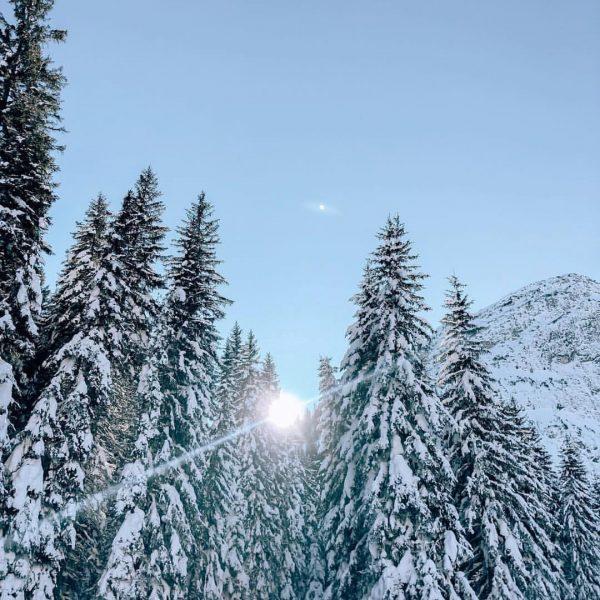 Frische Luft und blauer Himmel. Was will man mehr ? #lechzuers #winterwonderland #burghotel ...