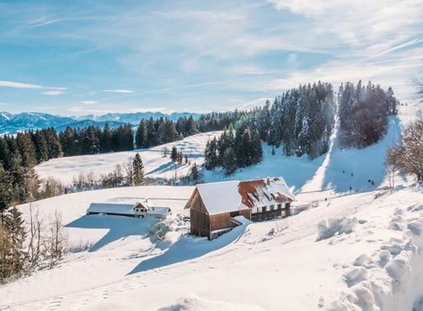 When everything turns white, the pace of life changes. Wintertime in Vorarlberg. #visitvorarlberg ...