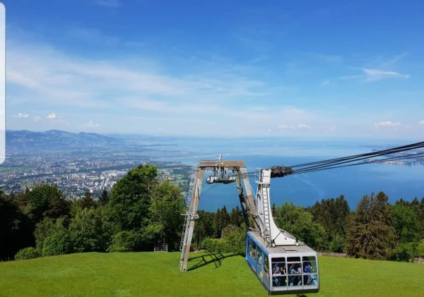 vom Pfänder (dem Hausberg von Bregenz) aus bietet sich eine wunderbare Aussicht über ...