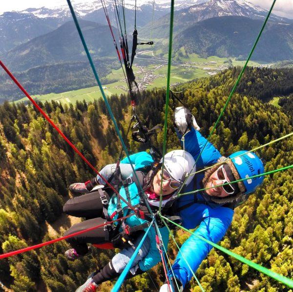 #hangaround #wellnessandfly @bad_reuthe im #bregenzerwald #paragliding #tandem #thermikdate mit @sfontour ❤️