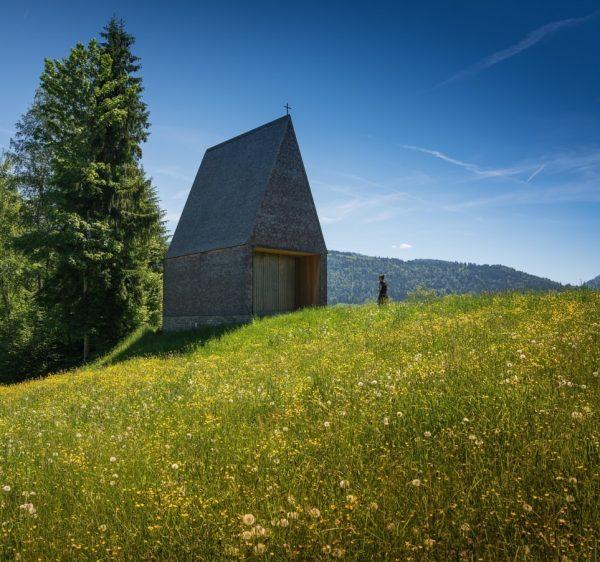 Kapelle in Krumbach #krumbach #kapelle #lourdeskapelle #bregenzerwald #bernardobader #salgenreute
