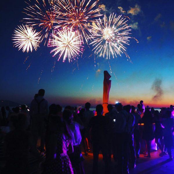 Dieses überraschend Feuerwerk gabs zudem am Bodensee zu sehen! Glück für uns! Traumblick vom MS Sonnenkönigin bei...