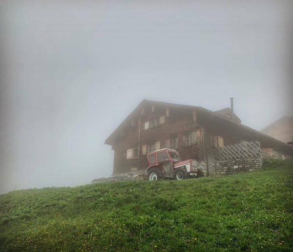 Homeland #vorarlberg #austria #grosseswalsertal #thüringerberg #farmhouse #farm #vintage #alpe #mountain #mountaineering #hiking #fog ...
