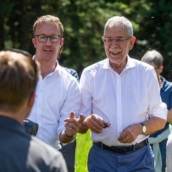 Im.Wald 🏔🇦🇹🌱🌲 #besuch #bundespräsident #van #der #bellen #vorarlberg #bregenzerwald #moore #wälder #wald #mischwald ...