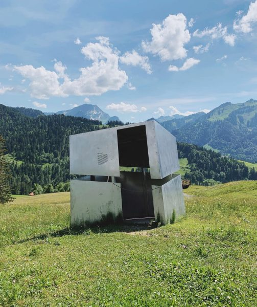 Speaking of cool architecture vs landscape projects: This one is located in Bregenzerwald ...