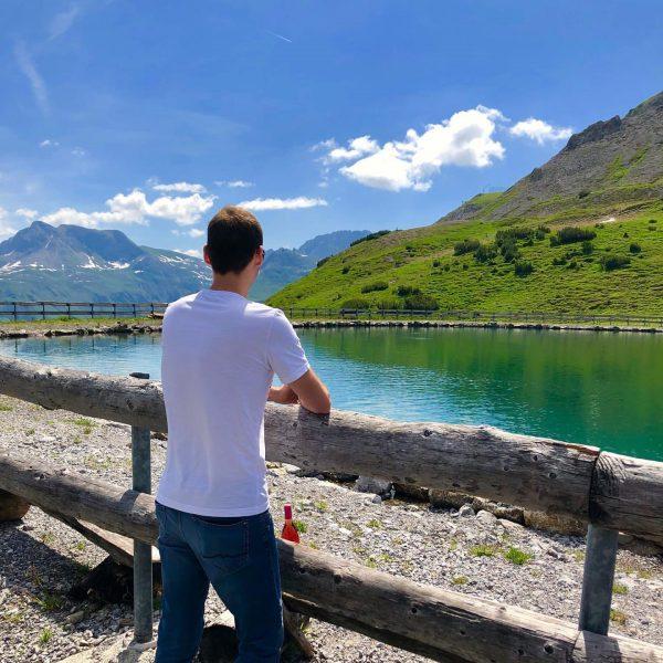 ⛰ . . . #mountain #mountains #austria #lech #kriegeralpe #hiking #lake #clouds #focus ...