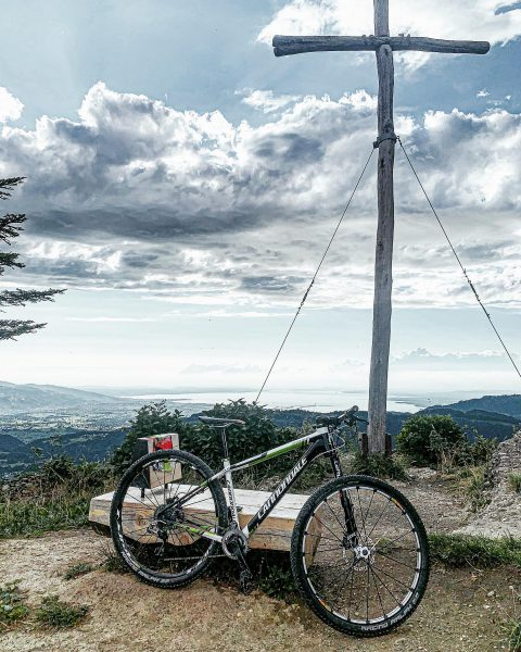 Yesterday I biked to a summit cross for the first time, yay! Gettin' ...