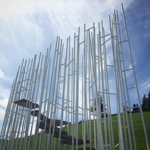 Vorarlberg: Architects from 7 different countries designed 7 different bus stops in Krumbach: ...