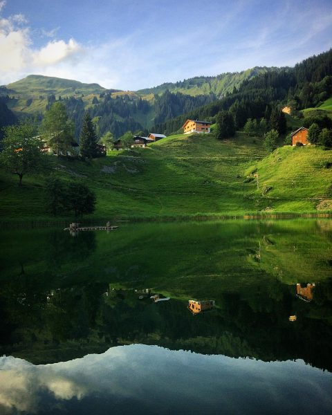 Enormous mirror up in the mountain #vorarlberg . . . #seewaldsee #alpen #outdoors ...