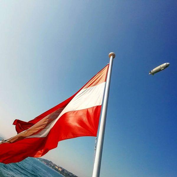 Gute Freunde MS Austria und Zeppelin NT #Bodensee #Austria #vorarlberg #msaustria #LakeofConstanze #zeppelin ...
