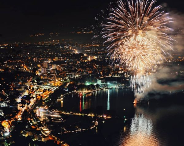 🌌🎆 . . . #bregenz #visitbregenz #visitvorarlberg #vorarlberg #bodensee #hafenfest #hafen #fireworks #feuerwerk ...