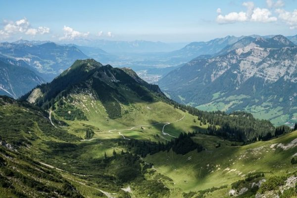 Few mountains allow for a view of the all major valleys in Vorarlberg: ...