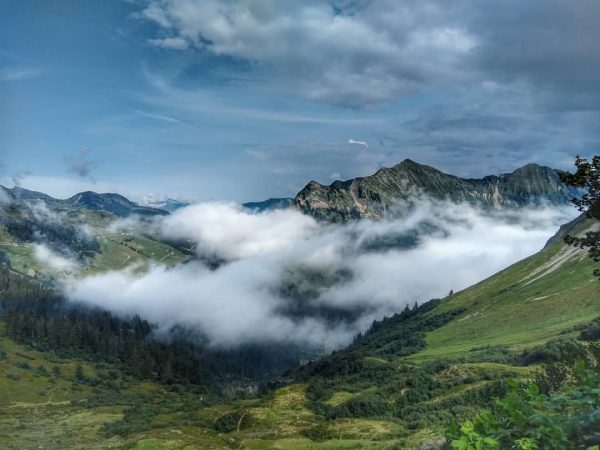 Furkajoch 23.08.2029 #furkajoch #motorradtour #vorarlberg #ggpixallgaeu #samsunghandy #landscape #mountain #austria #foggy #neblig #tagindenbergen ...