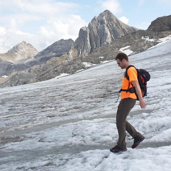 Crossing the Brandner Glacier on the descent from Schesaplana (2965m, highest mountain in ...