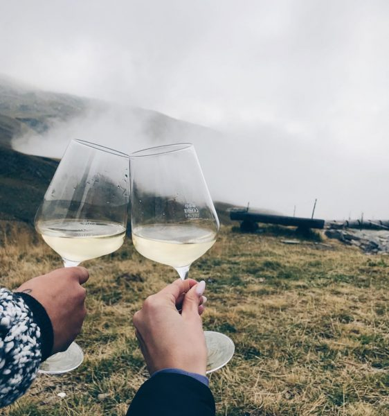 Облачная атмосфера 💙 #bergen #wine #atmosphere #lifestyle #verwall #mountains #österreich #austria #nature #neueheilbronnerhütte ...