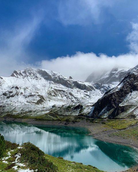 vor ein paar Tagen der erste Wintereinbruch im Gebirge ... derzeit aber wieder ...