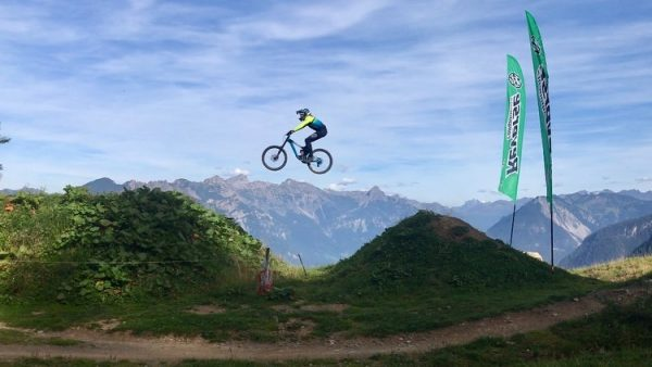 Day six and seven of seven. The gang arrived at bikepark Brandnertal and ...