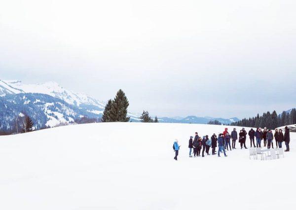 Exkursion zur Georunde Rindberg, welche beim Staatspreis Design 2017 ausgezeichnet wurde. BTW: Die ...