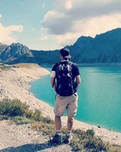 #hiking #mountains #nature #nicelandscape #sunset #relax #passion #austria #brandnertal #bösertritt #lünersee Lünersee