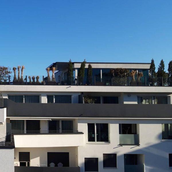 Mittelmeer? Nein. Blick aus meinem Hotelfenster in Dornbirn. Doll, wa? 😎 Vienna House ...