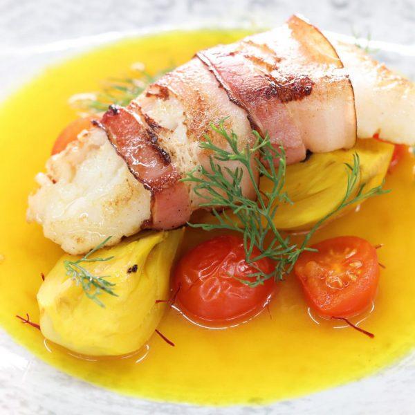 Kabeljau, Fenchel, Speck, Safran... . . . . #instafood #foodstagram #neewer #austria #vorarlberg ...