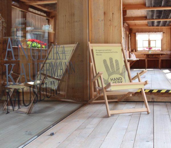 Richtig gemütlich unser Liegestuhl der Bregenzerwälder Handwerksausstellung😄. Bei uns im Angelika Kauffmann Museum ...