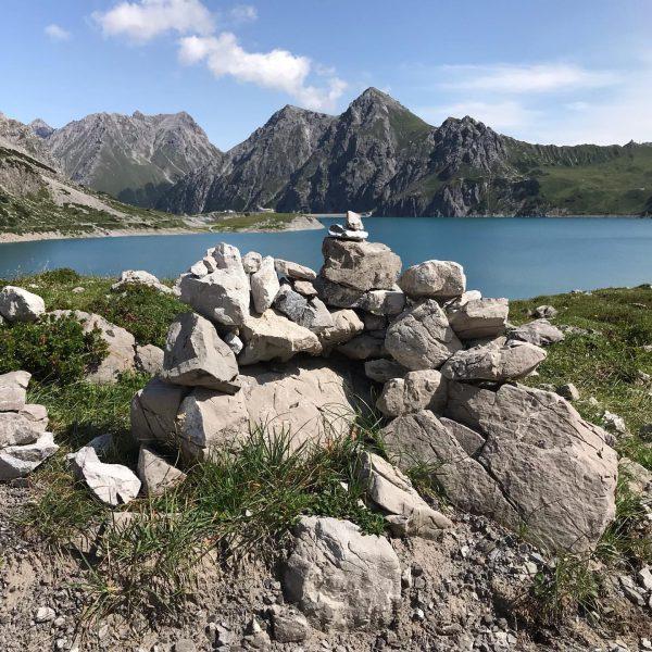 What are men to rocks and mountains #Lünersee #lünerseebahn #stausee #luenersee #brandnertal #nofilter ...