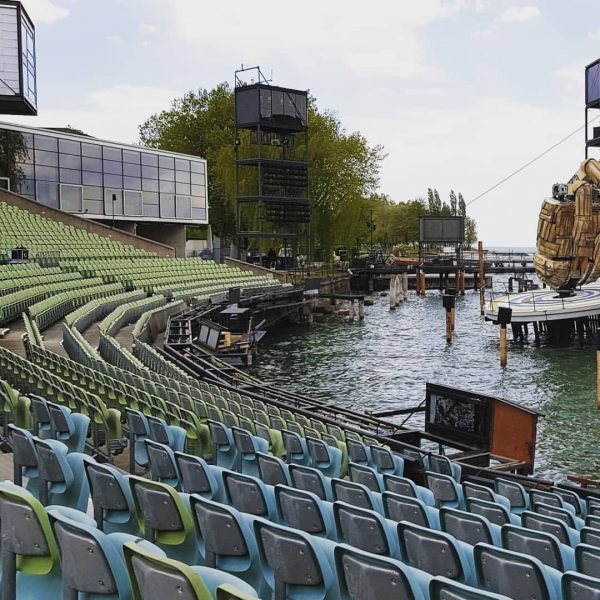 Panorama in the Bregenz floating operah house, May 2019 #operahouse #oprah #bregenz #bregenzerfestspiele ...