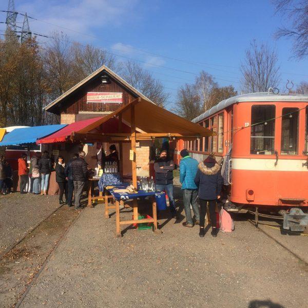 Rhein-Schauen auch beim Steinbruch Kadelberg in Mäder. Eine der wenigen Möglichkeiten, die Strecke ...
