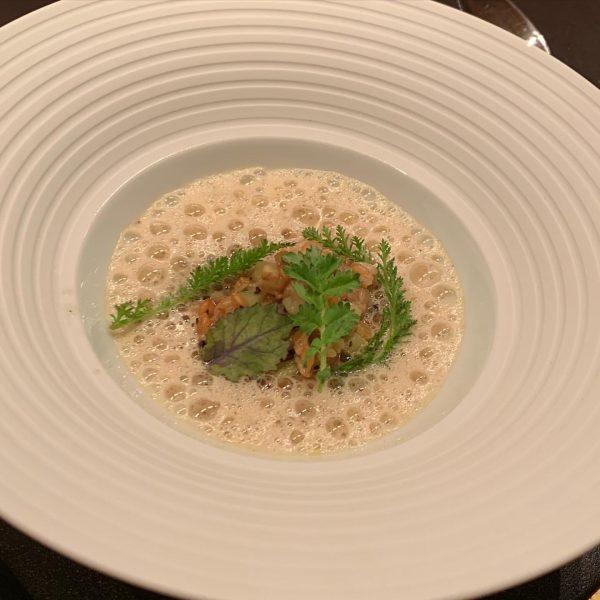 "1 - 2. •""Aubergine croquantes with herbs in Einkorn organic seeds foam• - ..."