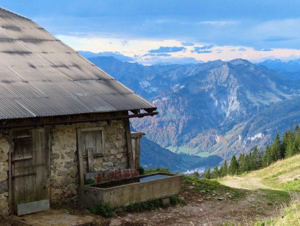 Hut with a view . . . . . #bezau #winterstaude #austrianmountains #hikingaustria ...