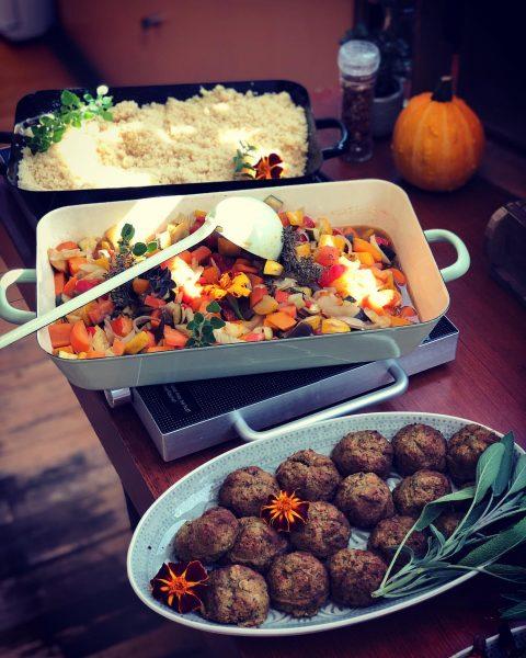 #couscous #ratatouille #falafel rezept von @diegluecklichmacherin #mittagsbuffet #readytoeat #gemüseliebhaberin #begeisterei💕