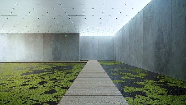 Olafur Eliasson, The mediated motion, 2001 in Kunsthaus Bregenz by Peter Zumthor. Responding ...
