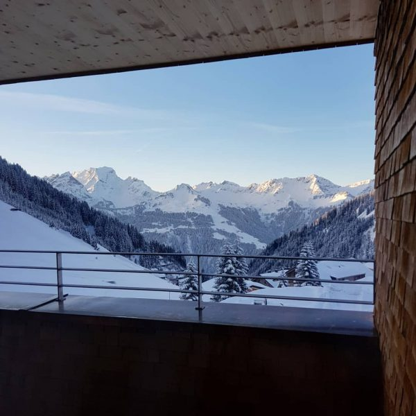 #ausblick morgens um 7 #alpenresortwalsertal #faschina #rotewand #vorarlberg