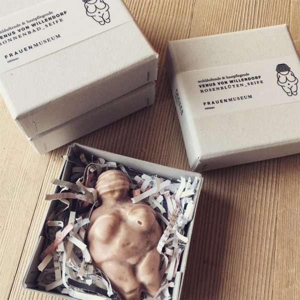 Organic Seifen der Venus von Willendorf - #frauenmuseumhittisau #packaging #seife #handmade #organic